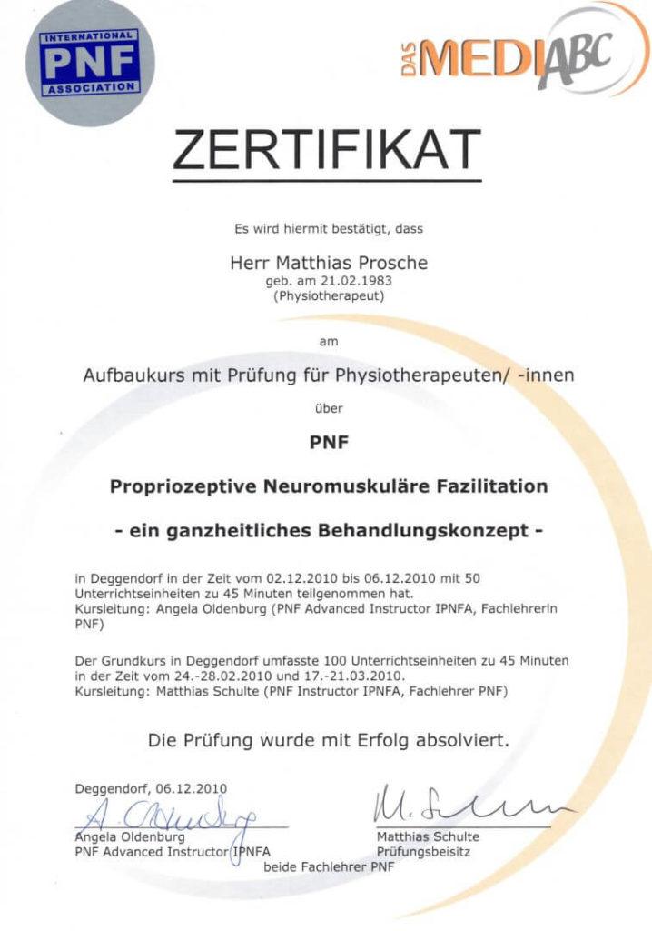 PNF Zertifikat